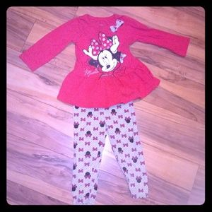 🍁🔸Disney 🔸 Minnie Mouse Red Top & pants set